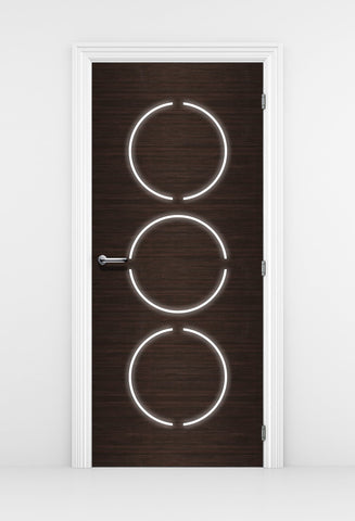 Contemporary Modern door Mural - Dark Wood Door Wallpaper | Pixellogo