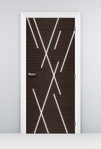 Modern Abstract lines Door Wallpaper - Light Lines design | Doortouch