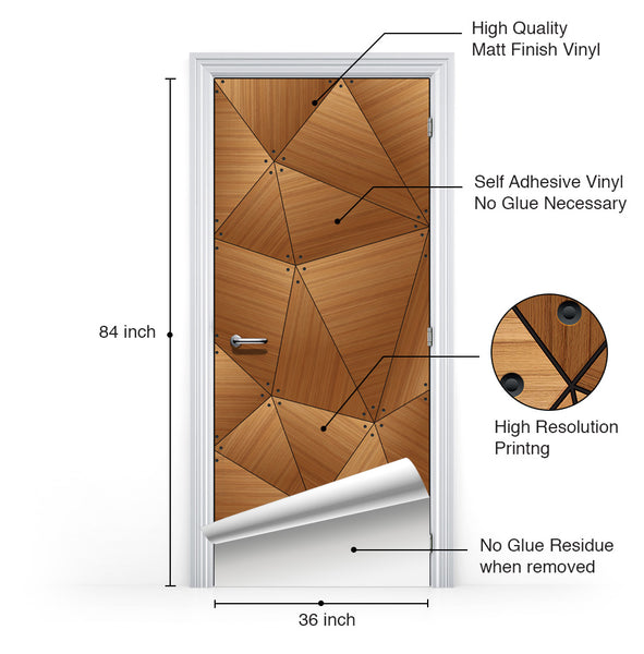 CocoBolo Geometric Door Wallpaper - Door Mural | DoorTouch