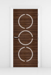 Contemporary Walnut Wood Door Wallpaper | Doortouch