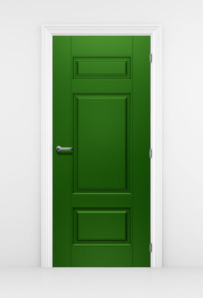 Classical Style Green Door Wallpaper - Door Mural | Doortouch