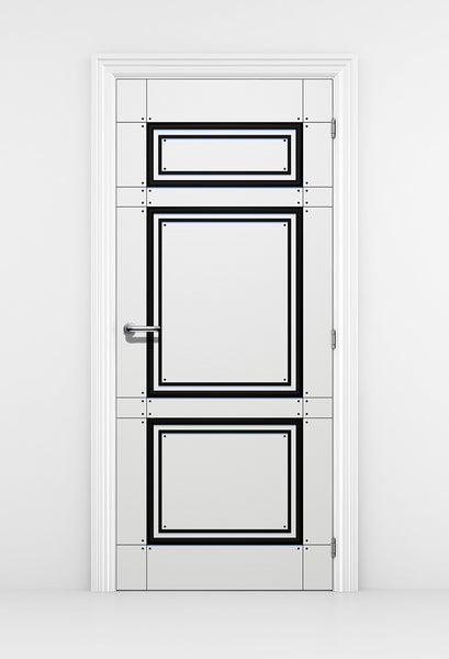 Modern Black & White Door Mural