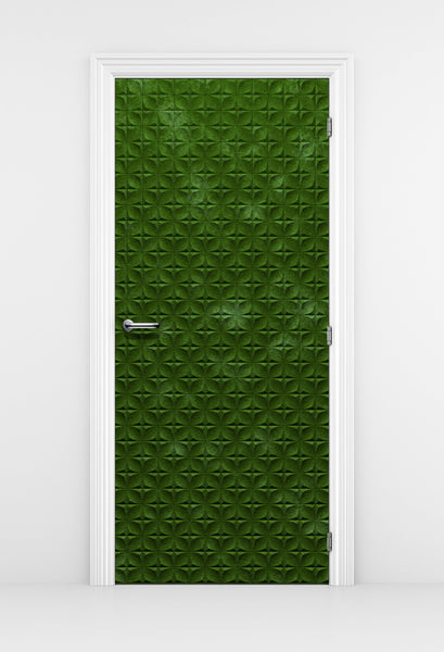 Mossy Green Door Wallpaper - Nature Door Mural | Mossy door