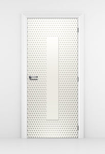 White Pattern Bedroom Door wallpaper - off white Wallpaper