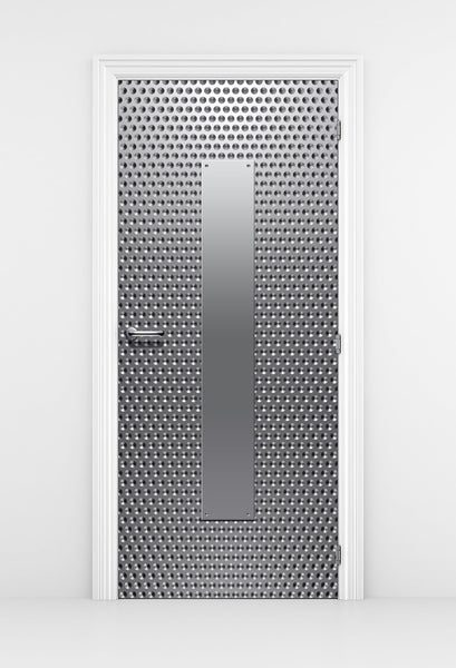 Silver dot Pattern Techroom Door wallpaper - DoorTouch