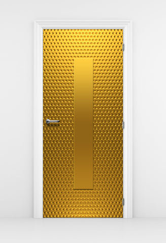 Gold Pattern Closet Door wallpaper | Bathroom Door | Closet Door
