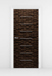 Ultra Modern Wood door Wallpaper - Wine cellar Door Wallpaper