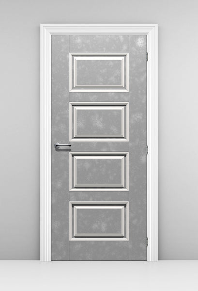 Grey Velvet Door Wallpaper - grey door with white molding | doortouch