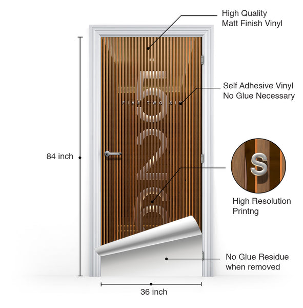 3D Door Mural - Self Adhesive Wallpaper - Doortouch