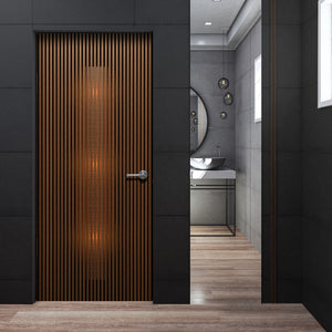 Modern Dark Walnut Door Mural