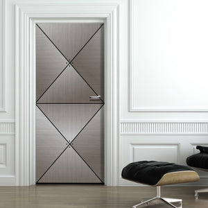 Grey Wood Door Diamond Panels