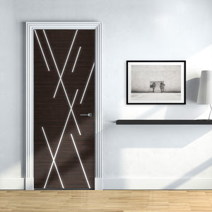 Modern Abstract lines Door Wallpaper