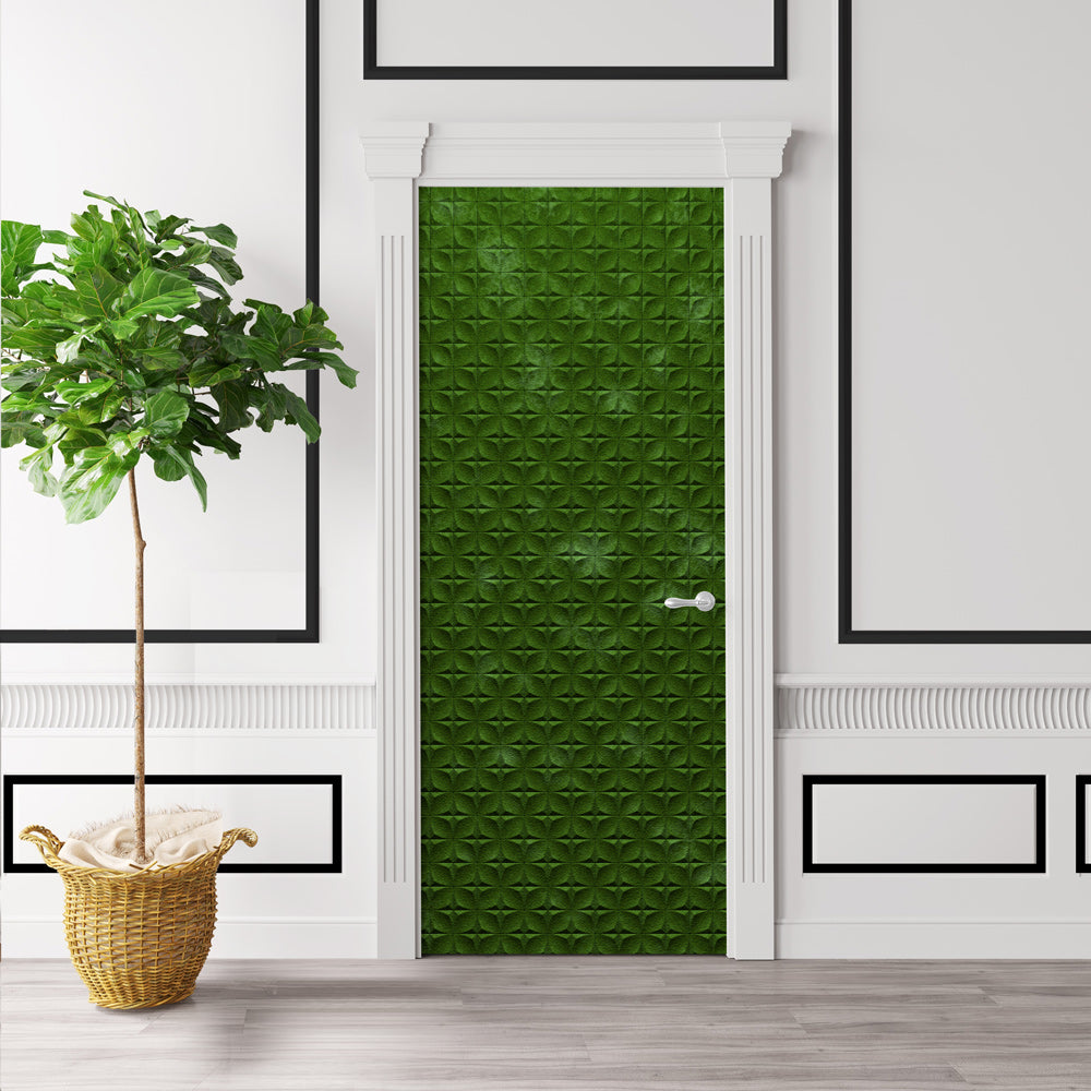 Mossy Green Door Wallpaper - DoorTouch