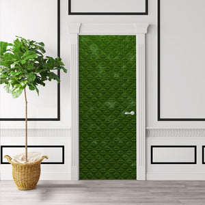 Mossy Green Door Wallpaper