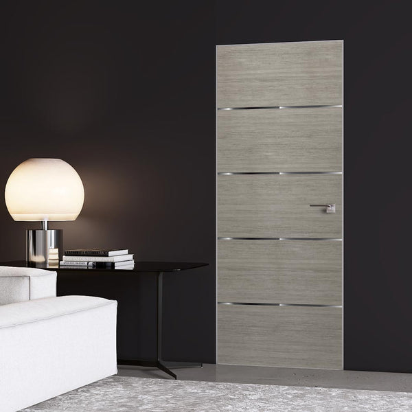 Grey wood Corporate Office Door Mural - Door Wallpaper | Doortouch
