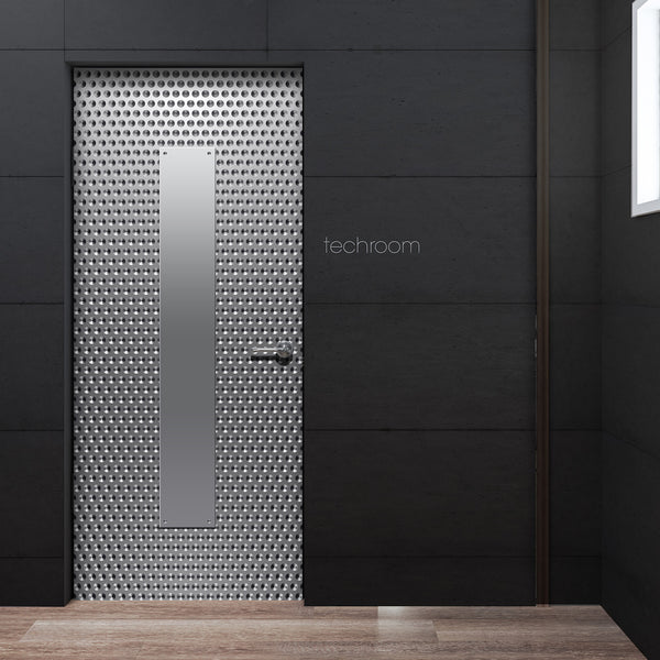 Technology Room Metal Door Wallpaper | Doortouch