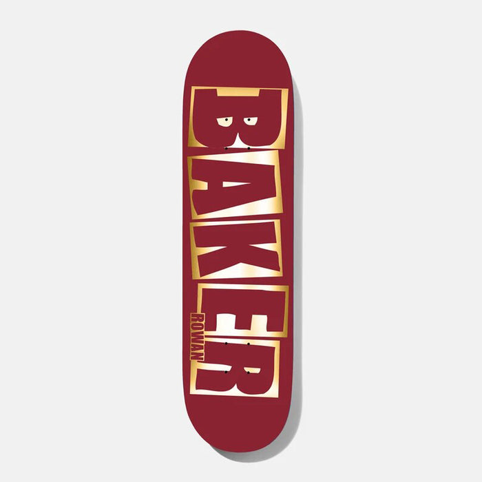 "Baker Rowan Brand Name Red/Foil B2 Shape (8.38"")"