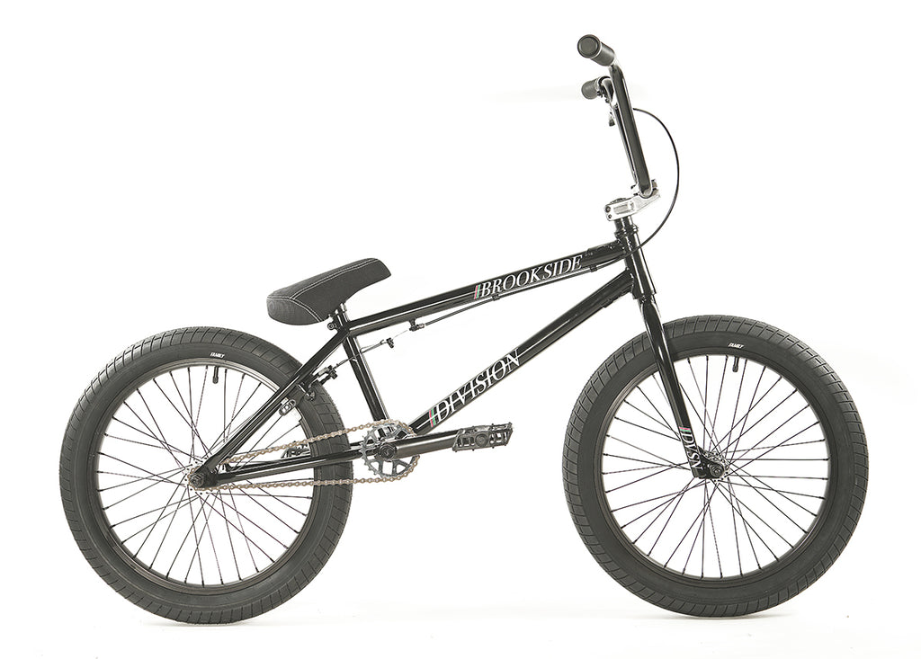 "Division Brookside 20"" Complete BMX (Gloss Black and Polished)"