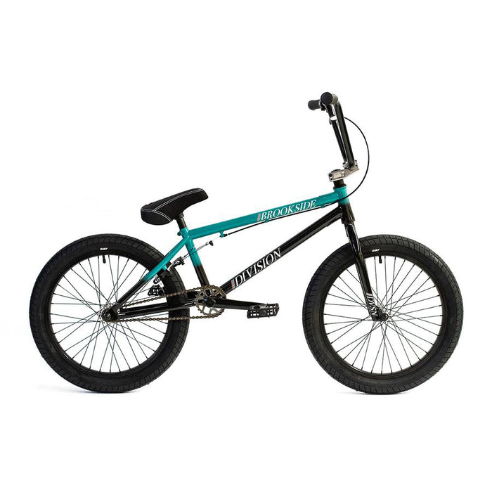 "Division Brookside 20"" Complete BMX (Gloss Black and Teal Fade)"
