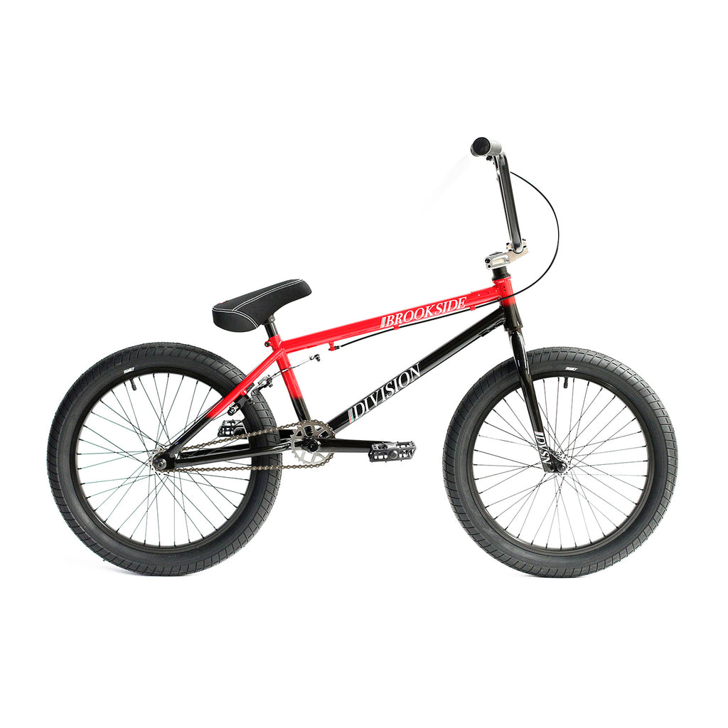 "Division Brookside 20"" Complete BMX (Gloss Black and Red Fade)"