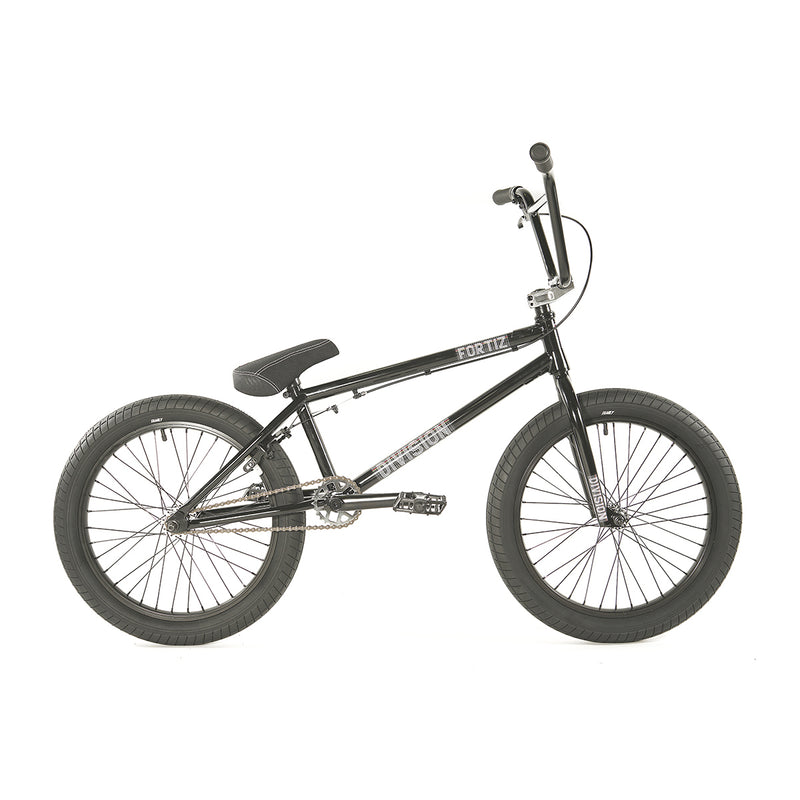 "Division Fortiz 20"" Complete BMX (Gloss Black and Polished)"