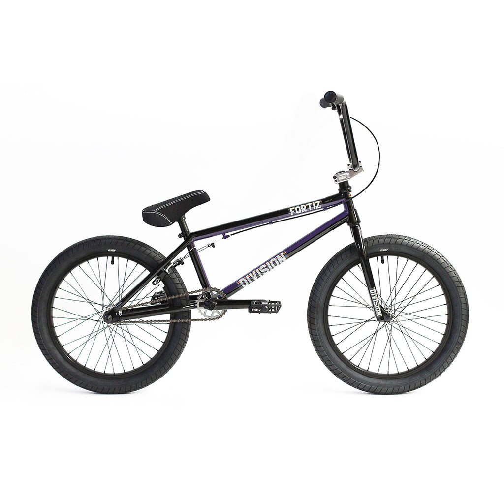 "Division Fortiz 20"" Complete BMX (Gloss Black and Purple Fade)"