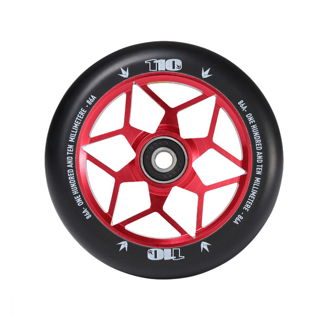 Envy 110mm Diamond Wheels (Red)