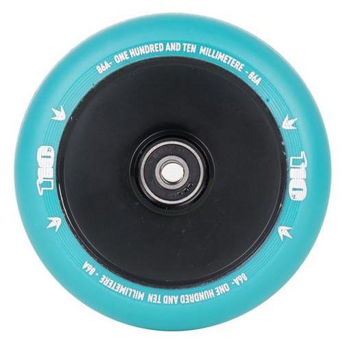 Envy 110mm Hollow Core Wheels (Teal/Black)