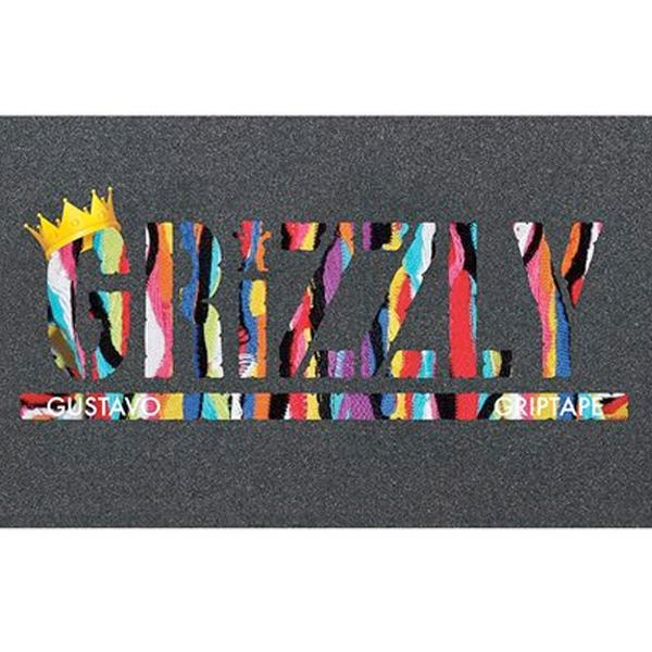 Grizzly Skateboard Griptape Sheet (Gustavo Stamp)