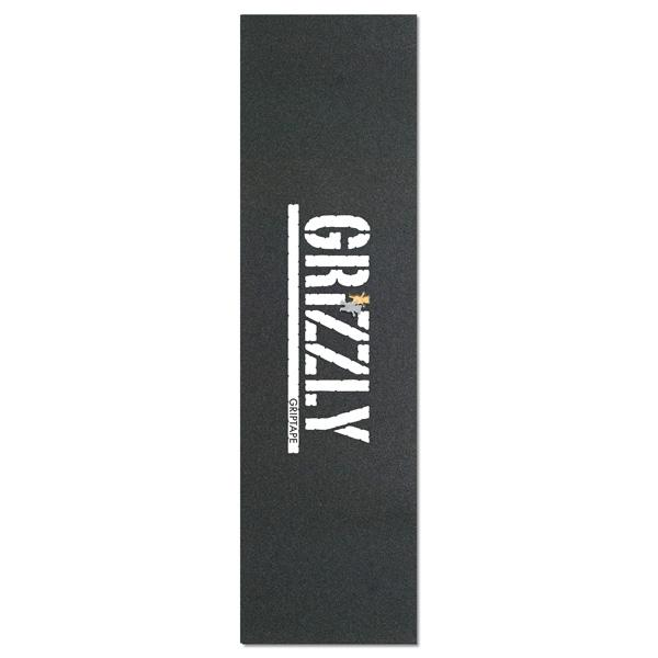 Grizzly Skateboard Griptape Sheet (White Stamp Bear Cut Out)