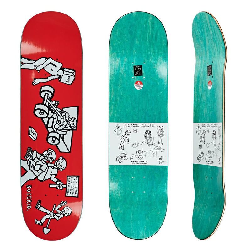 "Polar Nick Boserio Cash is Queen Red Deck (8.625"")"