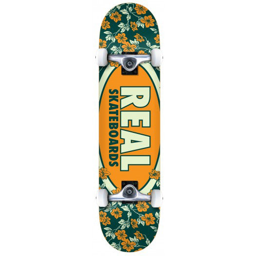 "Real Oval Blossoms Complete Skateboard (7.3"")"