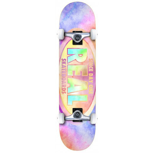 "Real Oval Tie Dyes Complete Skateboard (7.75"")"