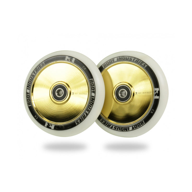 Root Industries 110mm AIR Wheels (White/Gold Rush)