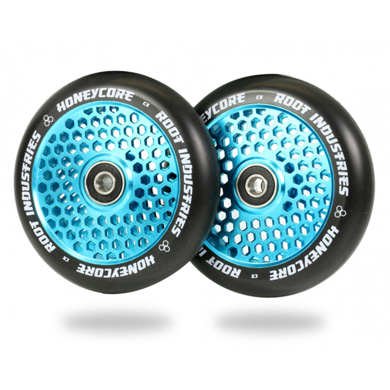 Root Industries 110mm HoneyCore Wheels (Black/Blue)