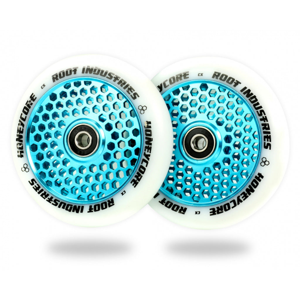 Root Industries 110mm HoneyCore Wheels (White/Blue)