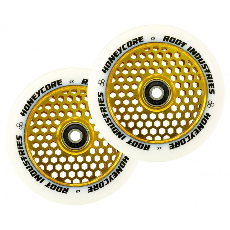 Root Industries 110mm HoneyCore Wheels (White/Gold)