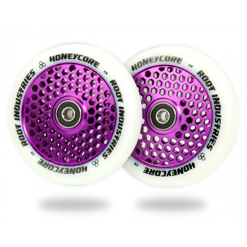 Root Industries 110mm HoneyCore Wheels (White/Purple)