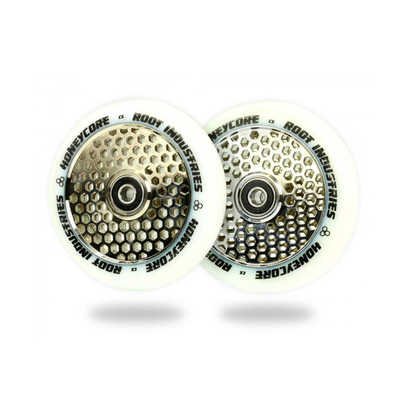 Root Industries 110mm HoneyCore Wheels (White/Mirror)