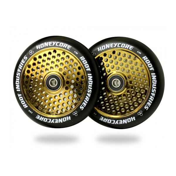 Root Industries 120mm HoneyCore Wheels (Black/Gold)