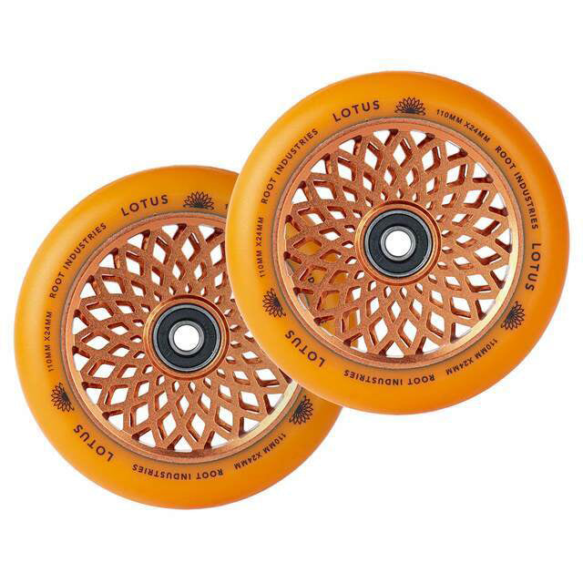 Root Industries 110mm Lotus Wheels (Orange/Orange)