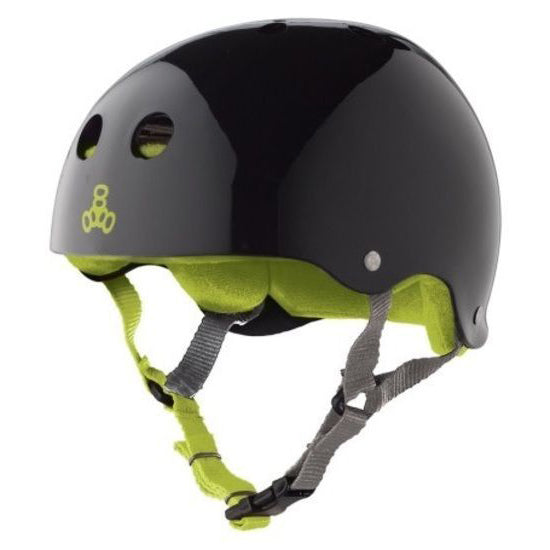 Triple 8 Brainsaver Sweatsaver Helmet (Black/Green)