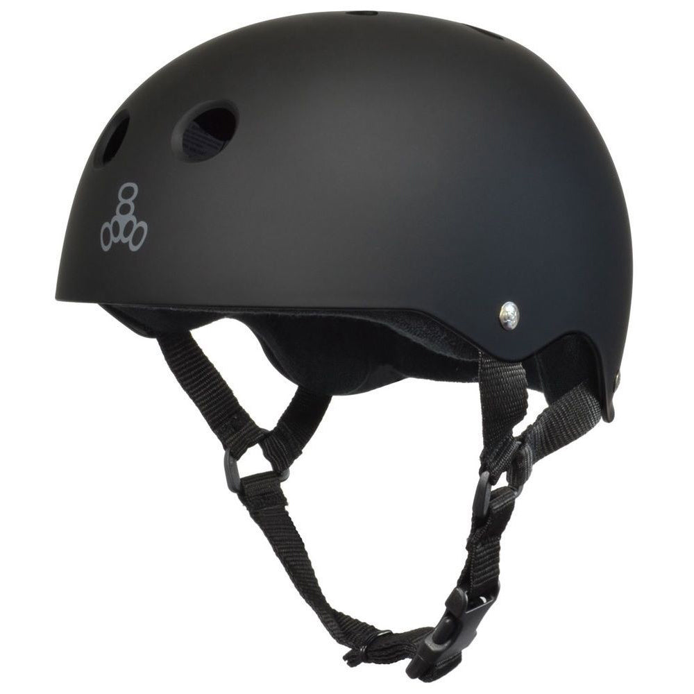 Triple 8 Brainsaver Sweatsaver Helmet (Black/Black)