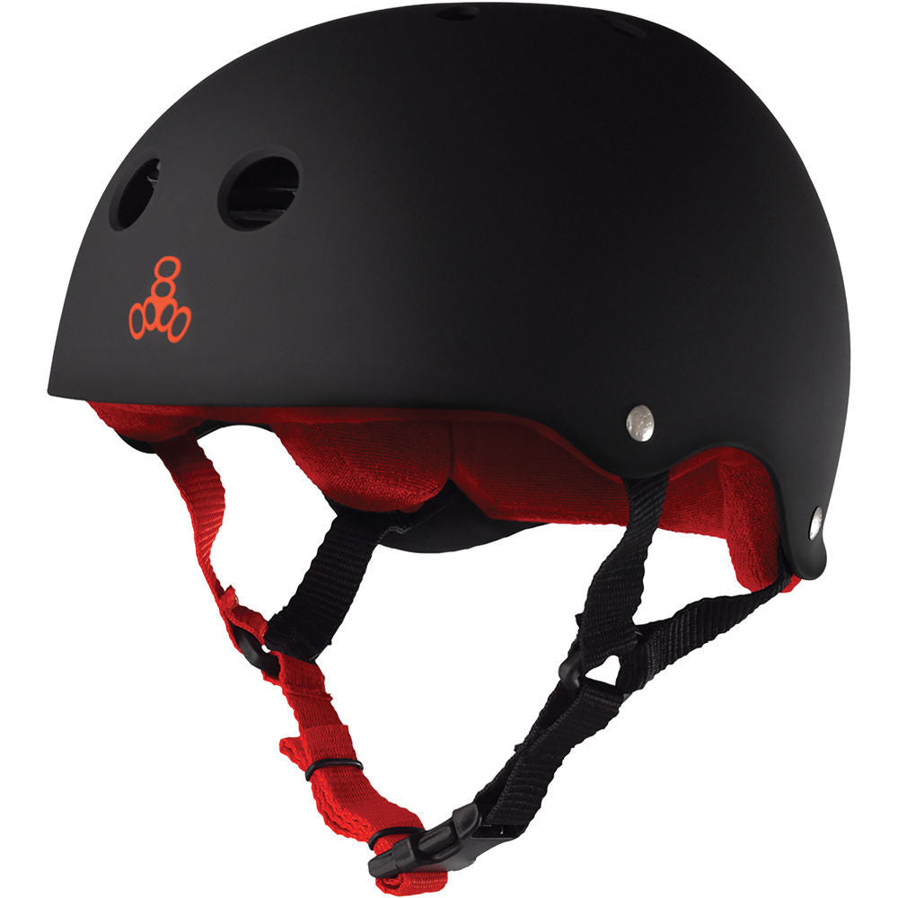 Triple 8 Brainsaver Sweatsaver Helmet (Black/Red Rubber)