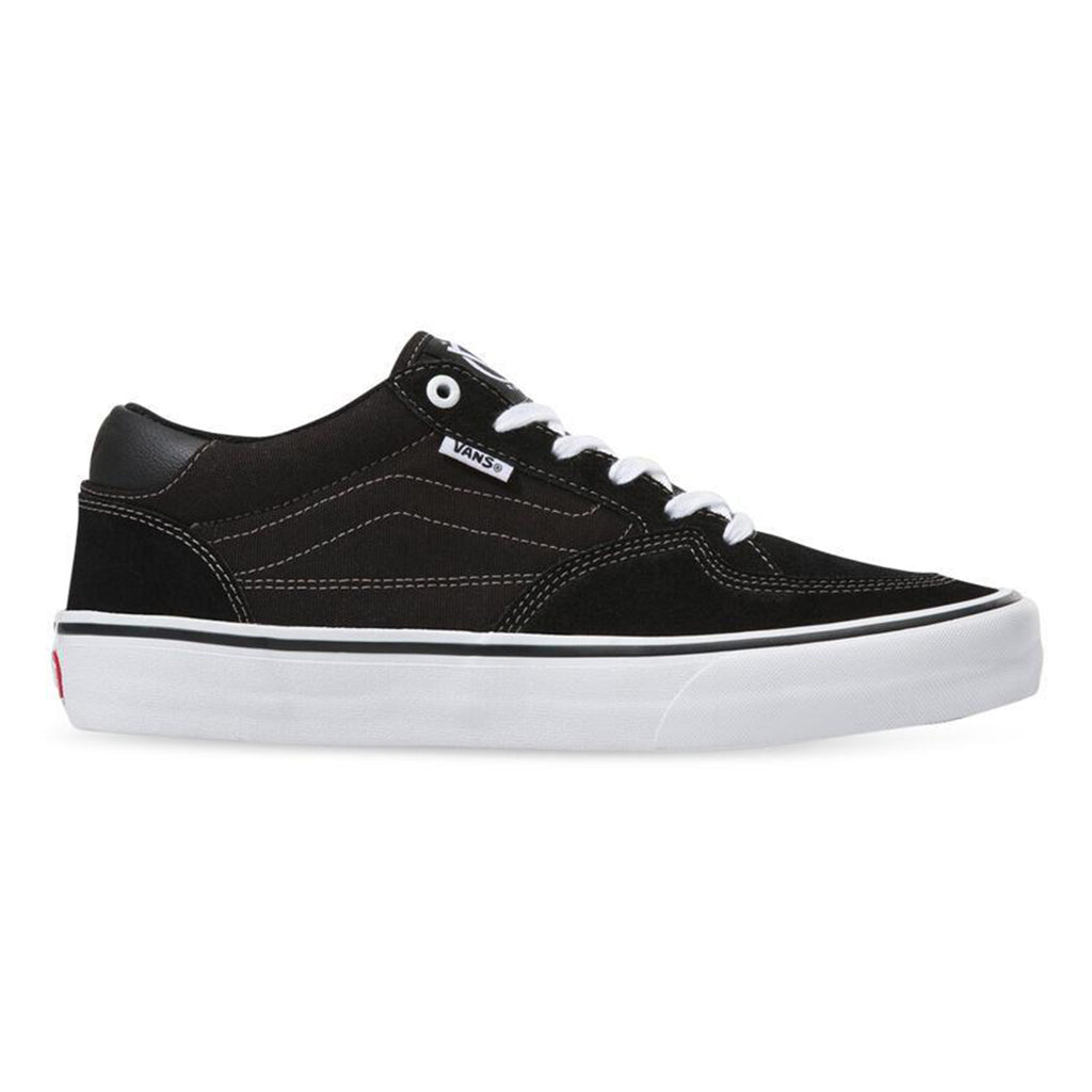 Vans Rowan Pro Shoes (Black and White)