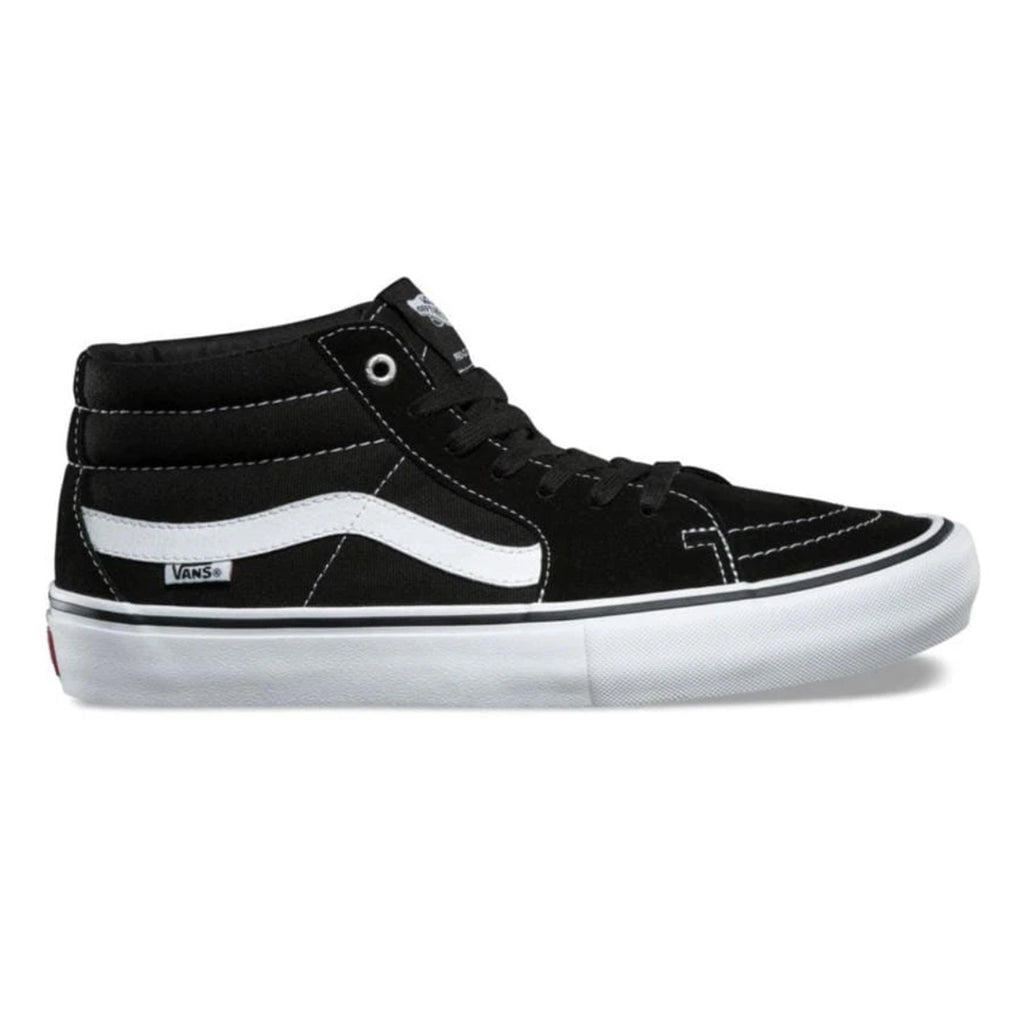 Vans Sk8-Mid Pro Shoes (Black and White)