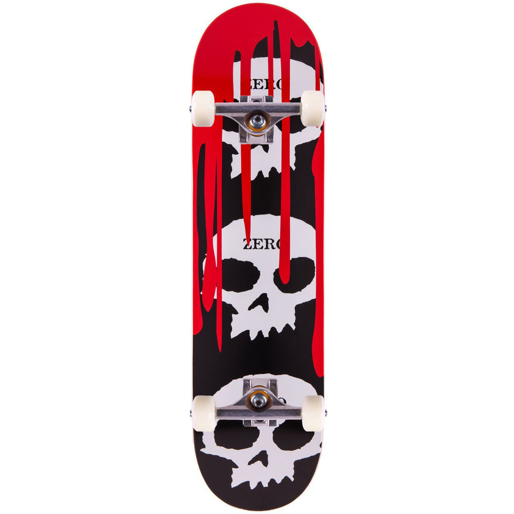 "Zero 3 Skull Blood Black Complete Skateboard (7.5"")"