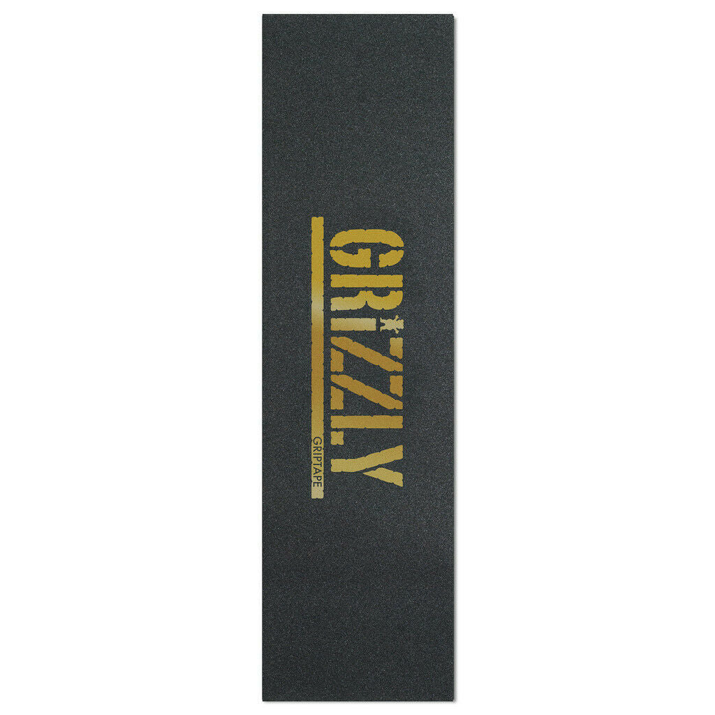 Grizzly Skateboard Griptape Sheet (Gold Stamp)