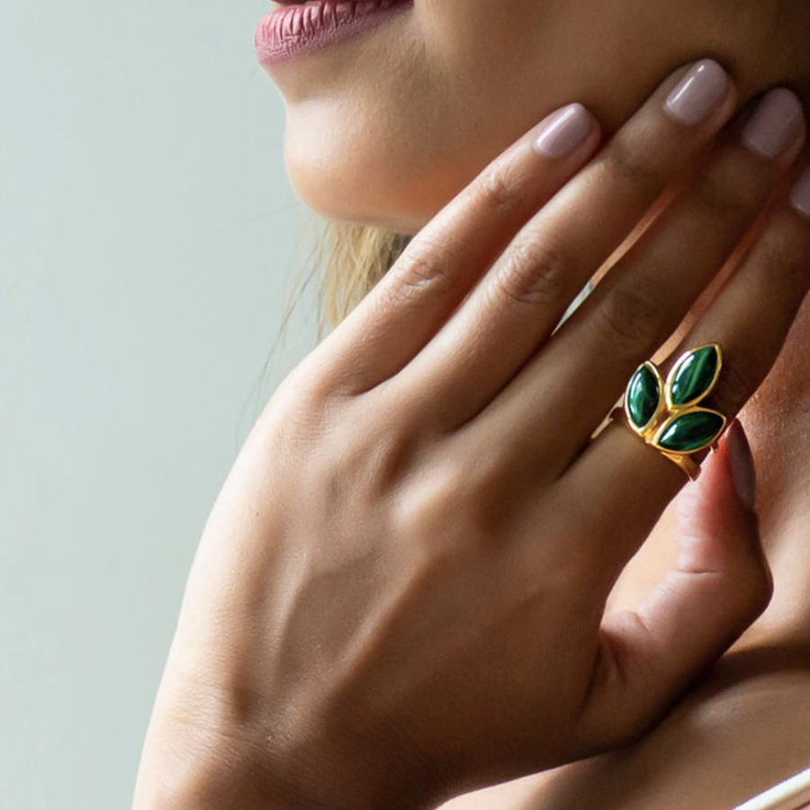 Malachite Pointer Ring