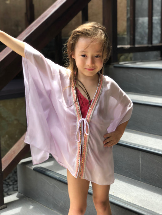 Candis Kaftan in Pale Lilac (Kids)
